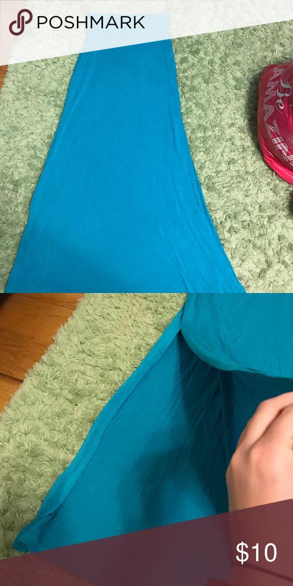 Teal maxi skirt Leg slits on both sides, hardly worn Skirts Maxi