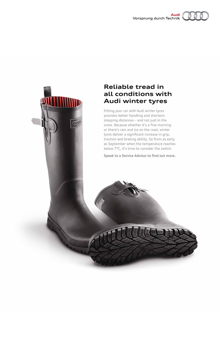 Reliable tread in all conditions with Audi winter tyres. Advertising Agency: BBH MK, Milton Keynes, UK Creative Director: James Swan 2012