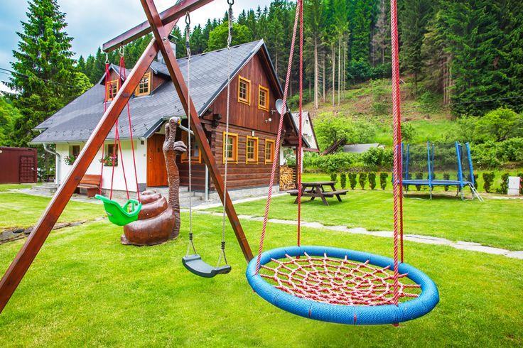 Roubenky Zlaté Hory - ubytování Jeseníky 06 (dětské hřiště)