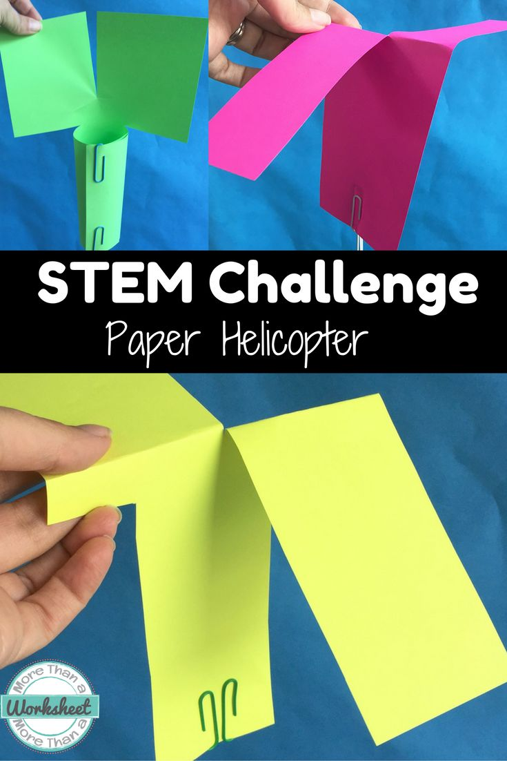 STEM Challenge Paper Helicopters--this is seriously one of the easiest challenges to implement but there is so much critical thinking involved to get your design to spin! This is a fun STEM Challenge with a nursery rhyme twist (for older kids!). Little Bo Peep needs a rescue helicopter for her sheep :) You can find this as part of a bundle: https://www.teacherspayteachers.com/Product/STEM-Engineering-Challenge-Bundle-10-Nursery-Rhyme-Challenges-Grades-3-5-1115725 More Than a Worksheet $