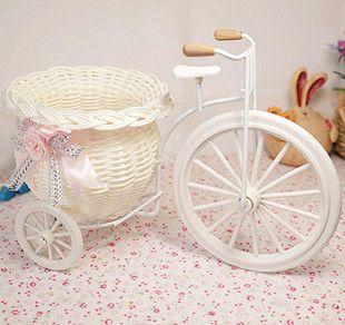 1шт Бесплатное хранение груза ПЭ ротанга трехколесный велосипед искусственные цветы свадебные украшения гостиной обеденный стол 9.20