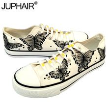 JUP Women Animated Cartoon Anime Butterfly Despicable Me Minion Shoe Couples Hand Painted Canvas Shoes Casual White Tie Shoelace //Price: $US $33.65 & FREE Shipping //     #tshirt