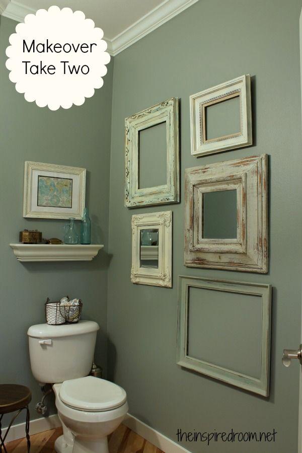 powder room take two vintage frame gallery wall