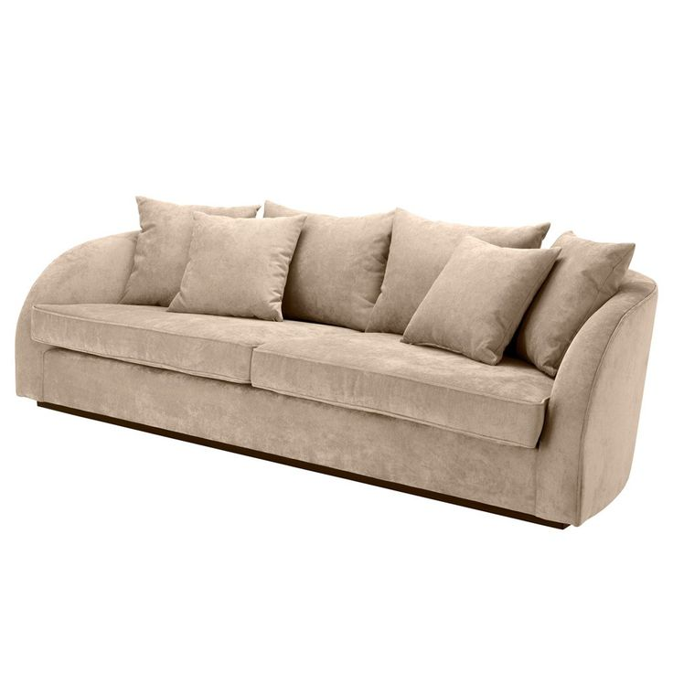 Eichholtz+Les+Palmiers+Sofa+-+Greige+Velvet+-+Greige+velvet+three+seater+sofa+by+Eichholtz. Channel+a+sumptuous+comfort+into+your+home+interior+space+with+the+Eichholtz+Les+Palmier+Sofa+-+Greige+Velvet. Classically+shaped+with+curved+frame+and+elegant+sloping+arms,+this+greige+velvet+sofa+is+the+perfect+accent+for+contemporary+living. Exquisitely+upholstered+with+a+terylene+and+nylon+composition+greige+velvet+finish,+the+sofa+features+two+luxury+seat+pads+with+accenting+scatter+cushions+f...