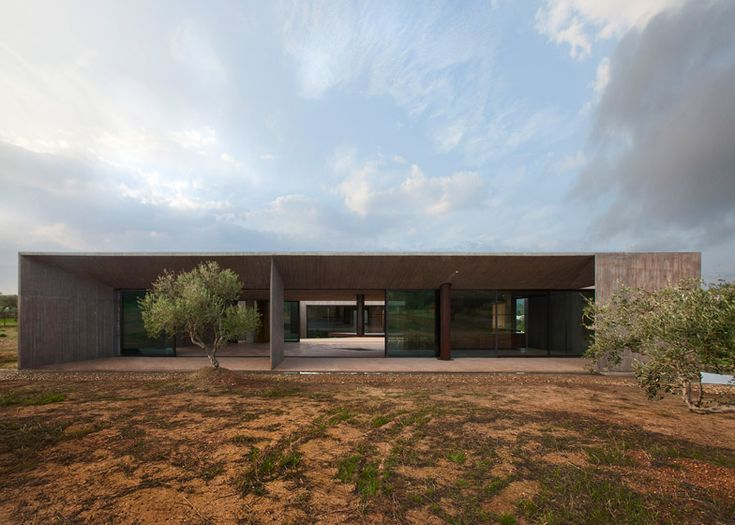 Tense Architecture Network design concrete home in a Greek olive grove