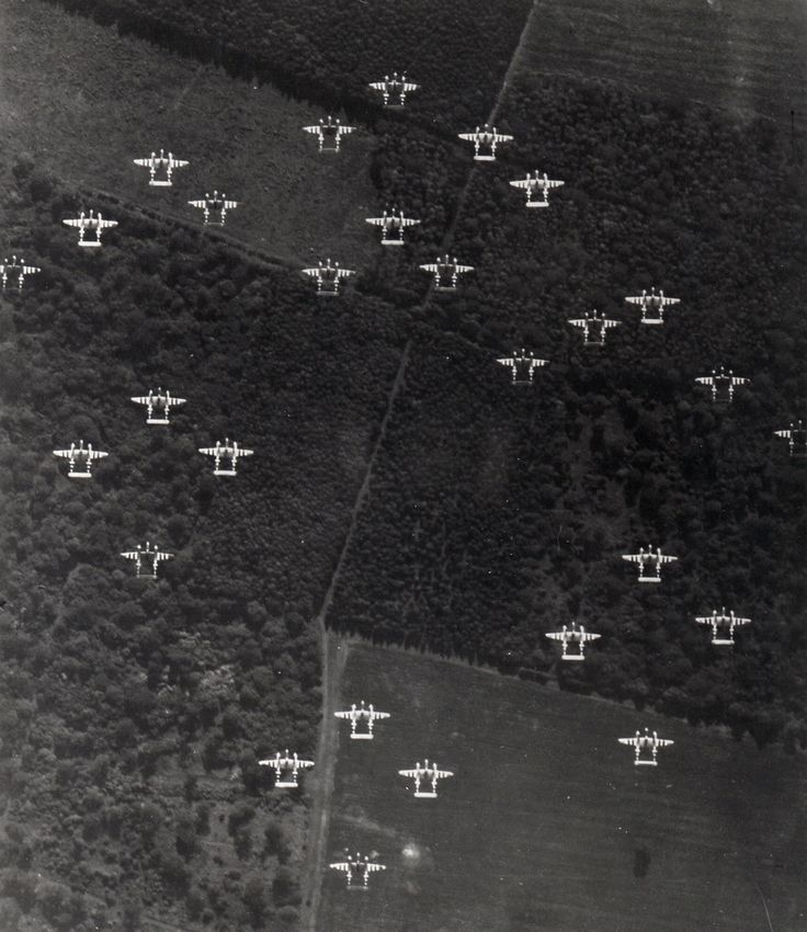 70 years ago today: Allied troops landed on the beaches of Normandy, France, supported by more than 5,000 ships and 11,000 aircraft. In an effort to prevent friendly fire during the D-Day invasion, each aircraft bore black and white invasion stripes like the ones pictured on these Lockheed P-38 Lightnings. Learn more on our blog about this tactic and its effectiveness. Image Caption: Lockheed P-38 Lightnings painted with invasion stripes.