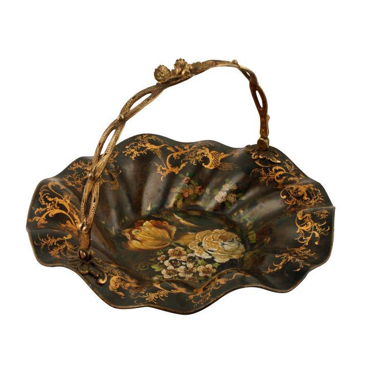 Regency Tole Ware & Ormolu Basket