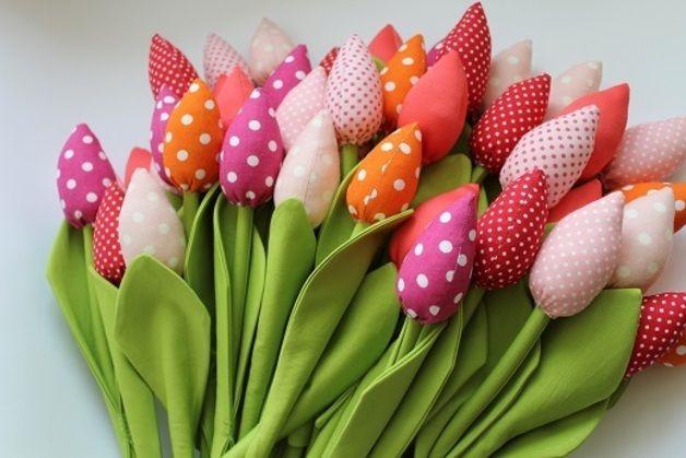 Ornaments – Tulipany które nigdy nie więdną shabby chic – a unique product by bawelnianyraj on DaWanda