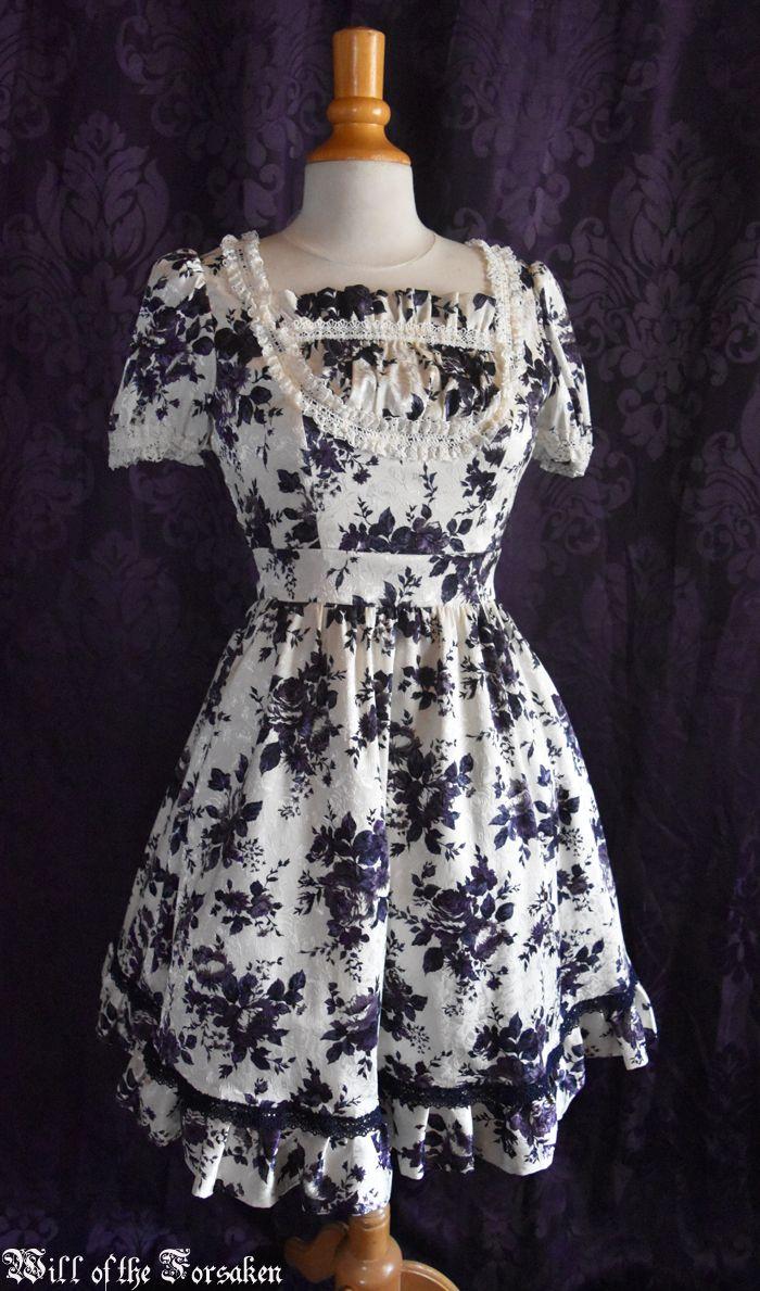 moi meme moitie  purple flower dress
