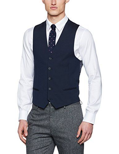New Look Men's Suit, Blue (Mid Blue), 38R New Look https: