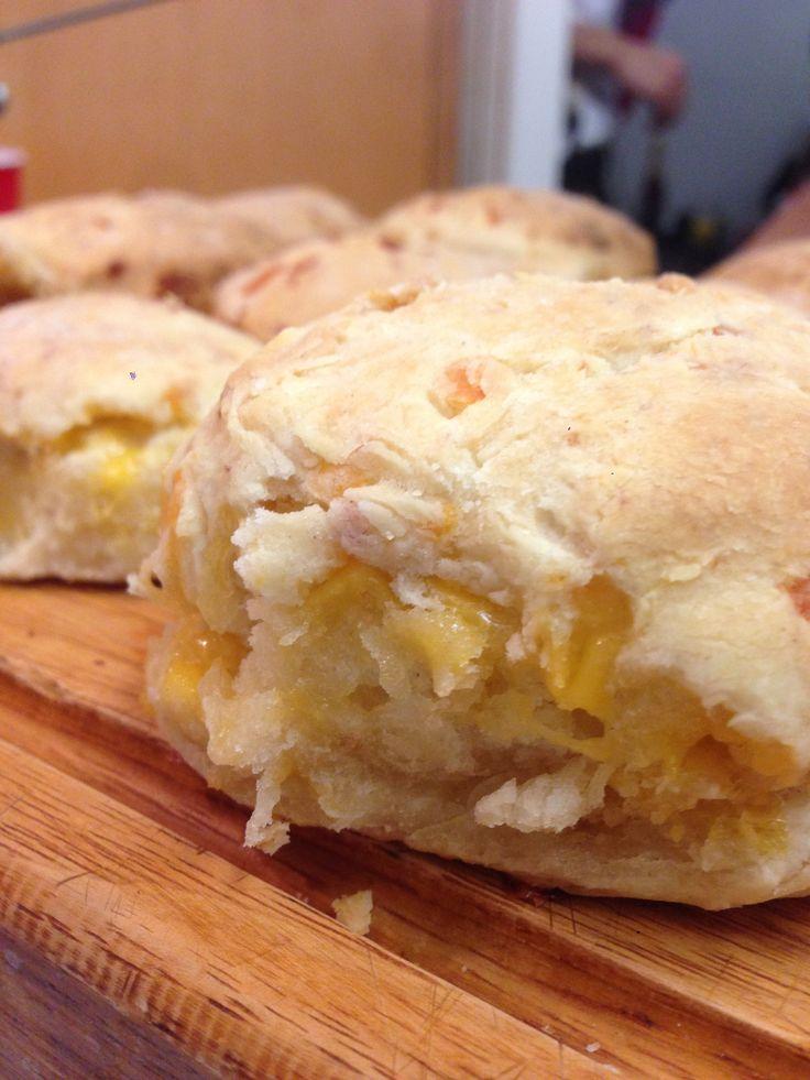 Bacon Cheddar Buttermilk Biscuits :: Little Paula Deen