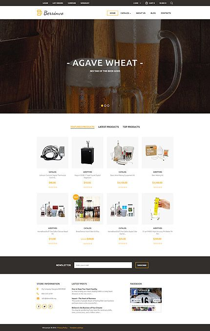 Beer Enthusiast World Online Store #Virtuemart #template. #themes #business #responsive