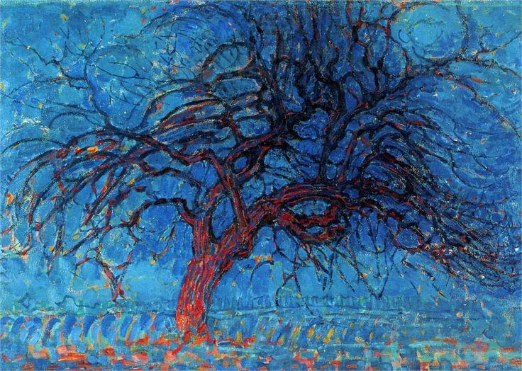 Avond (Evening): The Red Tree / Piet Mondrian, 1910