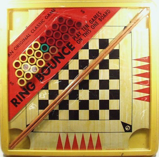 Vintage 1972 RING BOUNCE GAME by Smethport, Plays 10 Different Games!