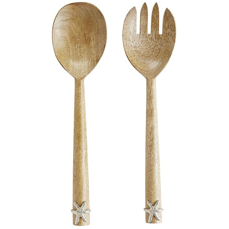 Serve up seaside style alongside your famous side salad at your next get-together. Our starfish-embellished wooden serving utensils bring the beach to your tablescape, delivering all the beauty and tranquilly of the shore without any of that pesky sand.