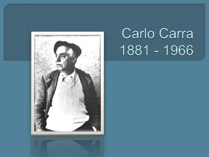 Resultado de imagen para Carlo Carra