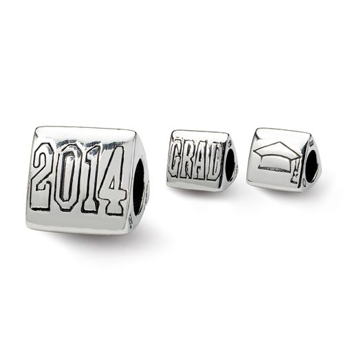 sterling silver reflections grad trilogy bead