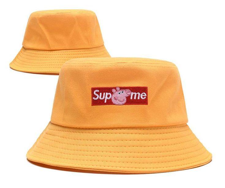 Supreme X Peppa Pig Bucket Hats Yellow Supreme bucket