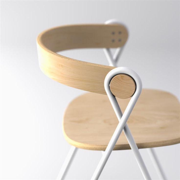 Shahrils silla Cordeles , hecha con tubos de acero dulce y madera laminada . -Bella!!
