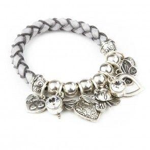 Bibi Bijoux Grey rope butterfly bracelet