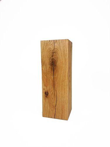 Eichenstamm Eiche Massivholz 17x17x50cm handarbeit aus Deutschland Holzsäule Holzstamm #heimgruen