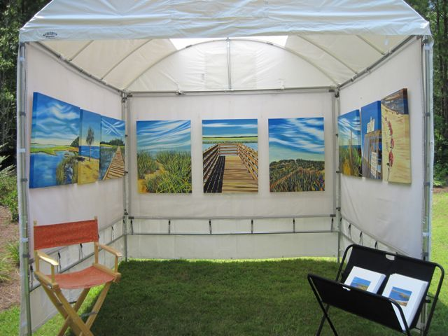 36 best images about art display on pinterest portable for Used craft fair tents