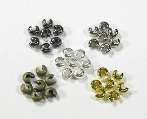 50 Kaschierperlen Verdeckperlen Quetschperlen Crimpschutz 3-4-5mm vers. Farben