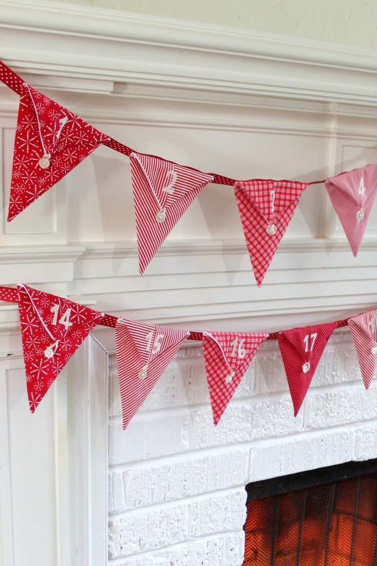 Christmas Pennant Advent Calendar. cute and easy to make