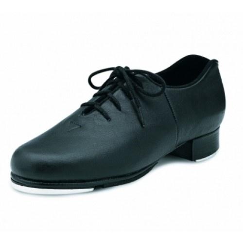 Bloch Audeo Tap Shoes  Lace up full grain leather upper and leather stacked heel. Kashmir lining for comfort and to reduce moisture. Heel notch to reduce pressure on the Achilles tendon.  Width : M  Colour : Black  Price: 56.70€
