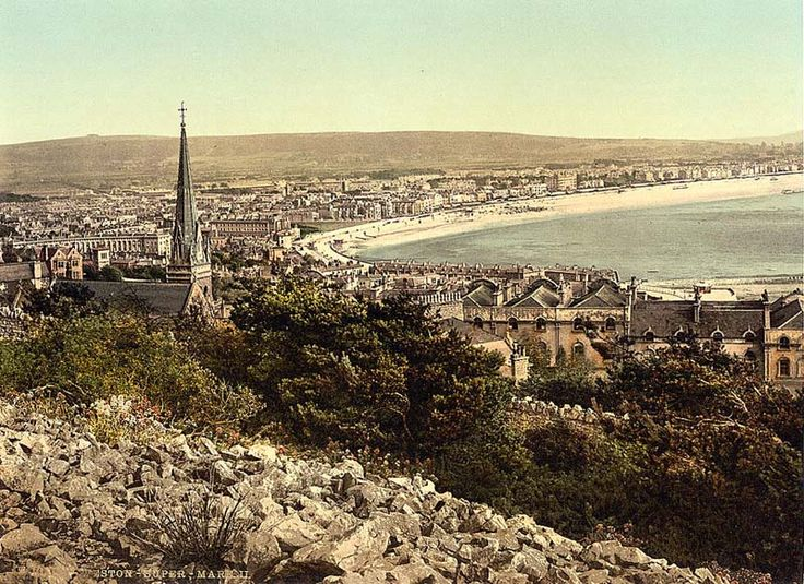 1890's pictures   British Paintings: Weston Super Mare during the 1890's
