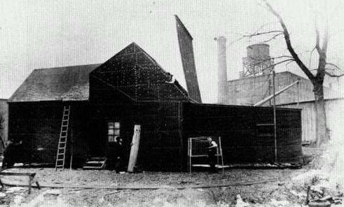 "Thomas Edison's ""Black Maria"" movie studio, March 1894."