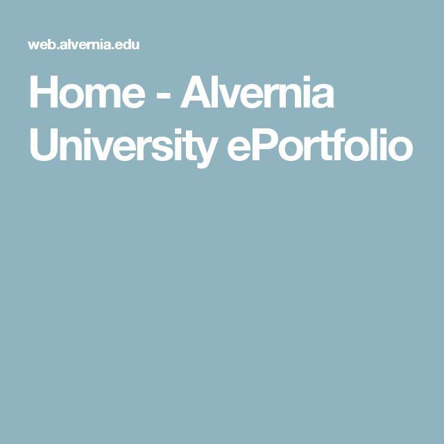 Home - Alvernia University ePortfolio