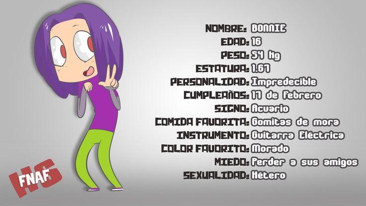 Ficha de Bonnie (Hecho por Edd00chan)