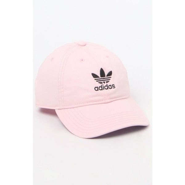 adidas Original Pink White Strapback Dad Hat ($24) ❤ liked on Polyvore featuring accessories, hats, bills hats, cap hats, 5-panel cap, adidas originals and white hat