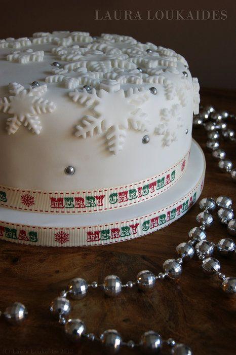 Silver Xmas Cake