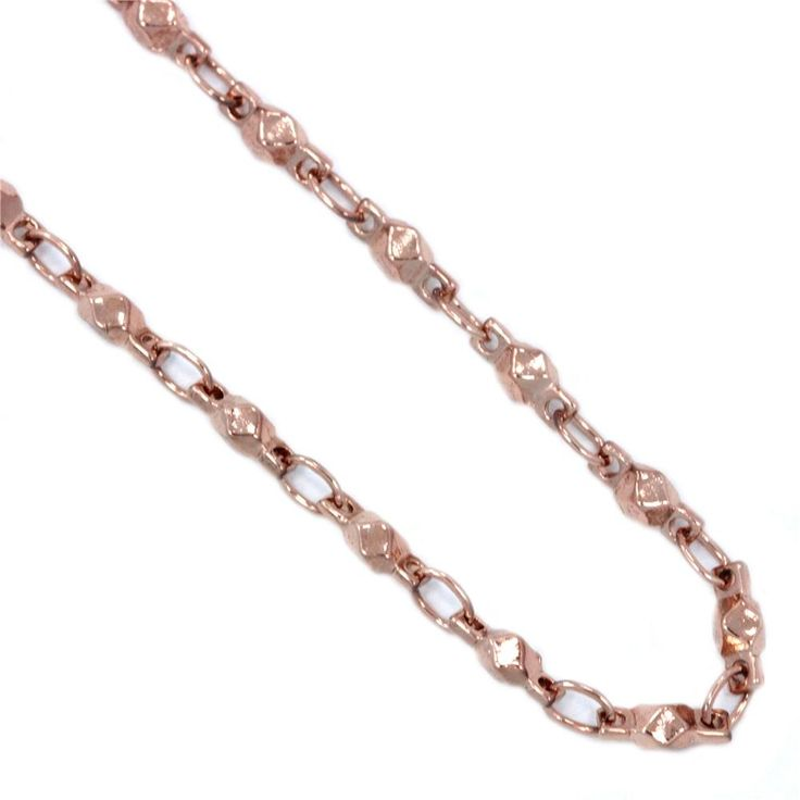 """South Hill Designs  ROSE GOLD MULTIFACETTED LINK  28"""" 23.00"""