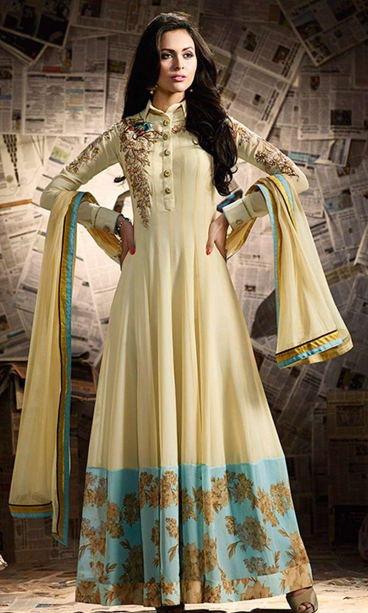 Buy online Yellow Party Wear Anarkali Suit (SKU Code : SUEMUG11008) at Ishimaya Fashion.