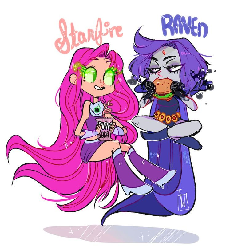 Raven Starfire Nomnoms by temporaryWizard.deviantart.com on @DeviantArt