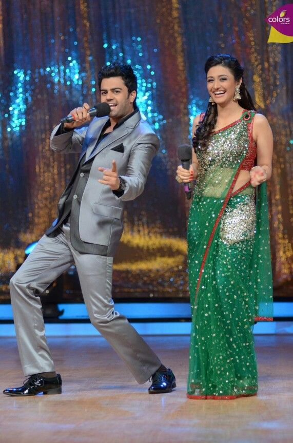 Manish Paul & Ragini khanna in the sets of jdj5
