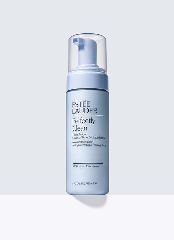 Perfectly Clean, Triple-Action Cleanser/Toner/Makeup Remover - Revolutionary 3-in-1 cleanser, toner and makeup remover. Airy foam melts away makeup, gently removes impurities, then leaves skin toned, balanced. Powered by our next-generation cleansing technology. For all skintypes.