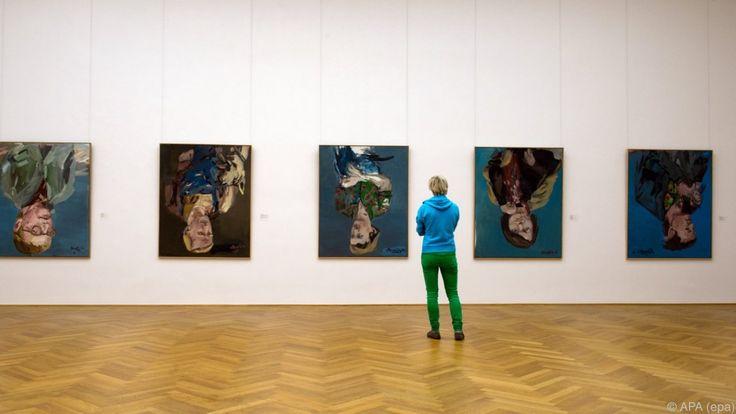 Baselitz-Werke im Dresdner Albertinum