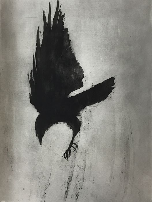 'I've Got You' by Judy Logan (etching on steel)