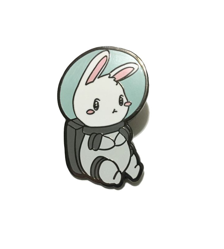 Hard Enamel Space Bunny Pin