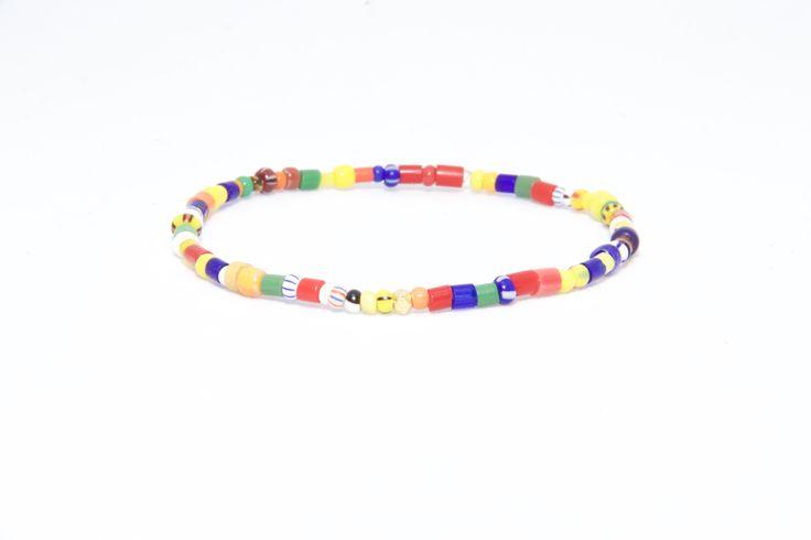 18K Solid Yellow Gold Beaded Bracelet Africa Beads - Men's & Women's Stylish & Unique Bracelets