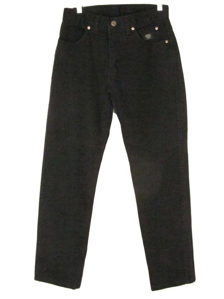 Harley Davidson Jeans 4 P Black Natural Waist Straight Legs Cotton Petite #HarleyDavidson #StraightLeg