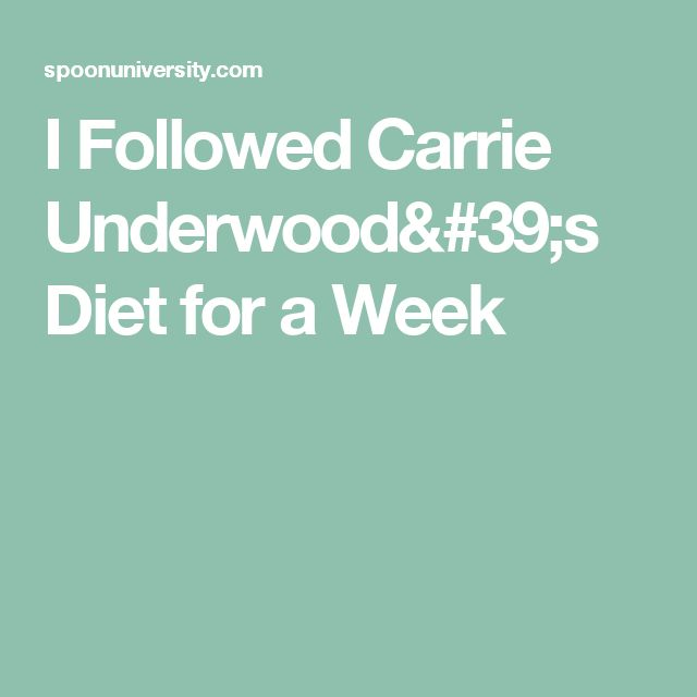 I Followed Carrie Underwood's Diet for a Week