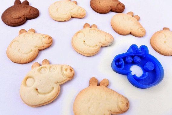 3D printed cookie cutter peppa pig Cookie stamp peppa