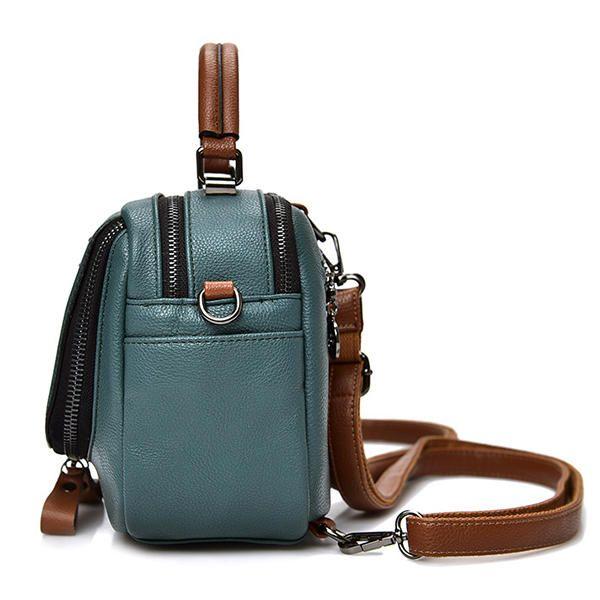 Women Genuine Leather Handbags Multifunction Travel Backpacks Large Capacity Sho - US$39.14
