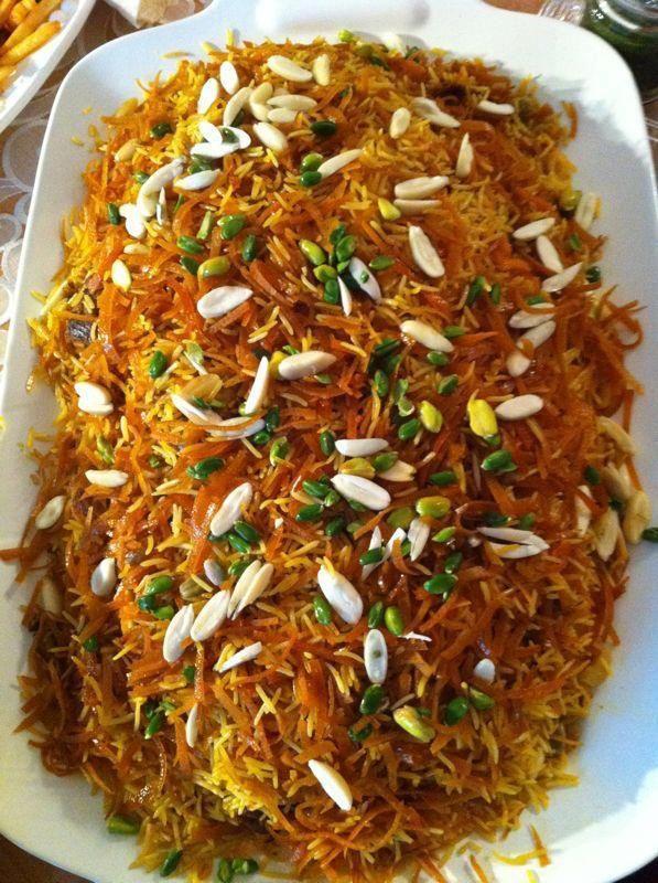 Qabuli pulao (Rice Pilaf with Meat, Raisin & Carrots)