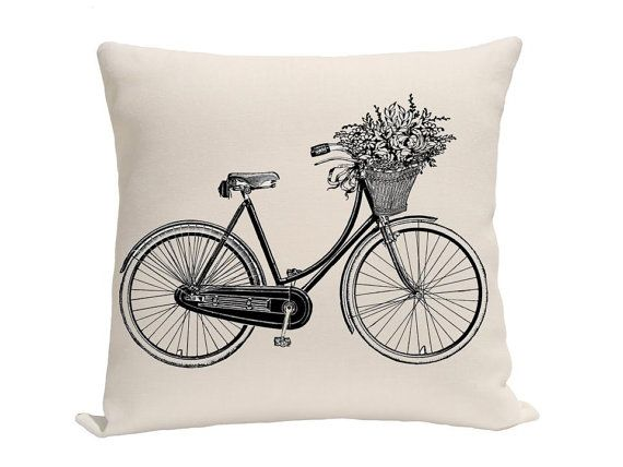 Girls Bike Pillow Covers Decorative Pillows Throw by gracioushome, $16.00